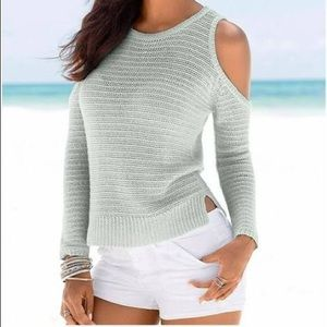 Express Open Shoulder Lilac Sweater XS